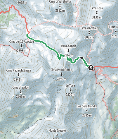 Cartina / Via Ferrata Ettore Castiglioni, Dolomiti di Brenta