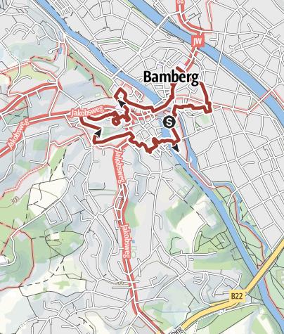 Karte / Bamberger Krippenweg