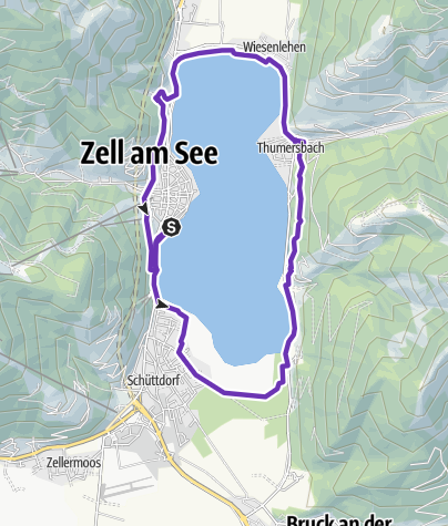 Karte / WOMEN'S TRAIL Zell am See-Kaprun - Lake Run