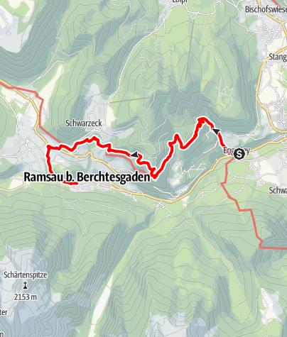 Map / Auf dem Soleleitungsweg nach Ramsau