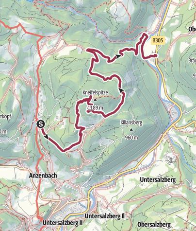 Map / Über die Kneifelspitze zur Kugelmühle