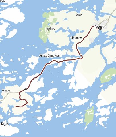 Map / 2. St Olav Waterway - Pargas to Lillandet, Nagu
