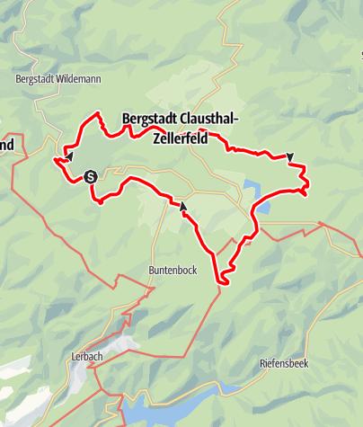 Karte / Sepp-Ruf-Hütte Rund um Clausthal an vielen Teichen vorbei