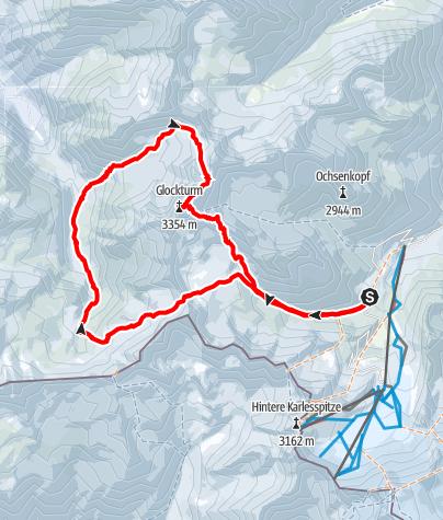 Karte / Glockturm Umfahrung - aus dem Kaunertal