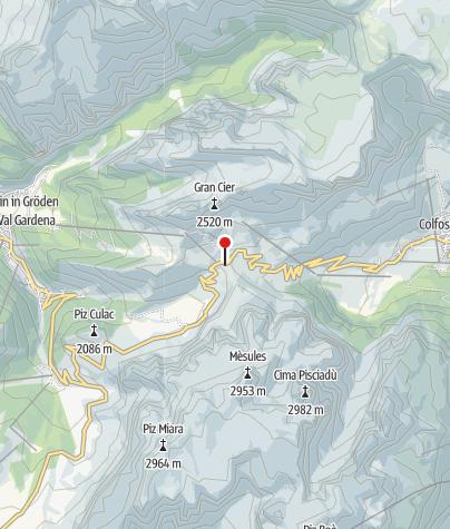Map / Val Culea und Val Setus - Sellastock