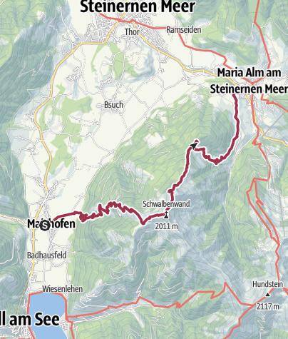 Karte / Saalachtaler Rundweg - 2 Tag - Variante A