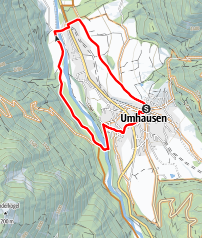 Map / Biketour Umhauser Runde (693)