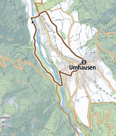 Map / Biketour Umhauser Runde (693)
