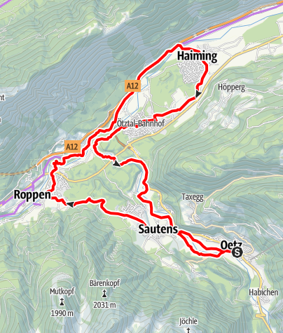 Map / E-Bike Tour 5-Orte-Runde (658)
