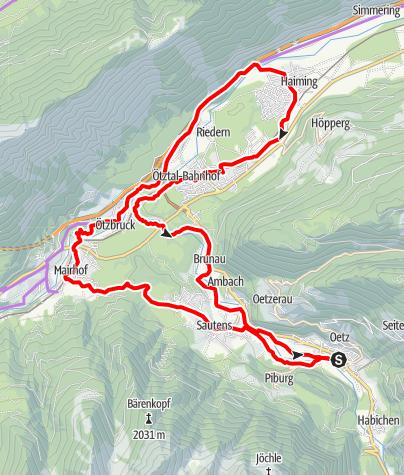 Karte / E-Bike Tour 5-Orte-Runde (658)