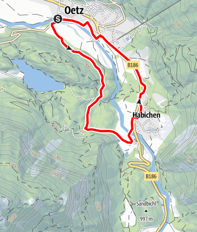 Map / E-Bike Tour Oetz - Habichen (690)