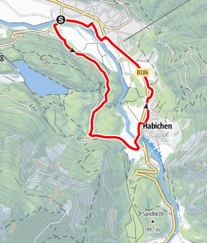 Karte / E-Bike Tour von Oetz nach Habichen (690)