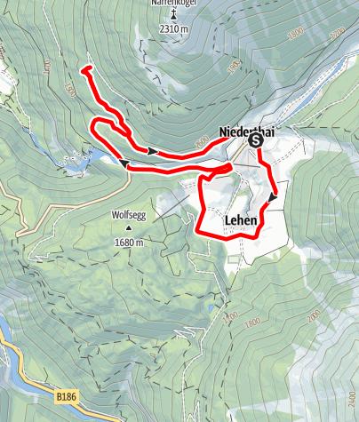 Karte / E-Bike Runde um Niederthai (662)