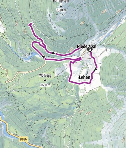 Map / E-Bike Runde um Niederthai (662)