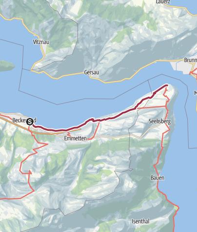 Karte / Beckenried-Risletenschlucht-Treib