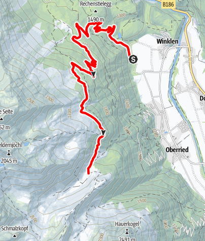 Map / E-Bike Almentour zur Wurzbergalm - Stabelealm - Innerberg Alm (636)