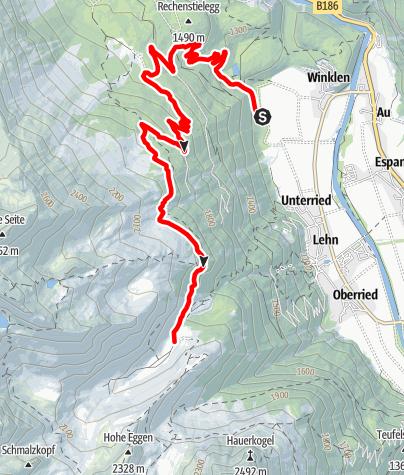 Karte / E-Bike Almentour zur Wurzbergalm - Stabelealm - Innerberg Alm (636)