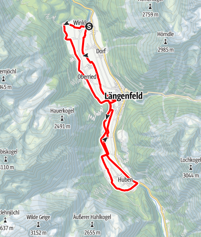 Map / E-Bike Tour Längenfelder Runde (686)
