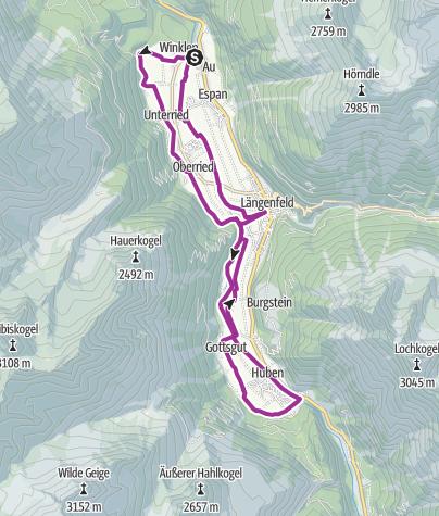 Map / E-Bike Tour Längenfelder Runde (686)
