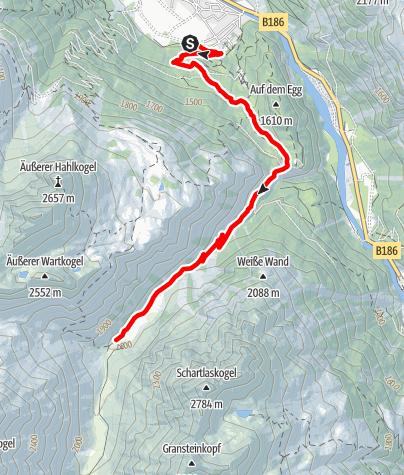 Karte / E-Bike Tour über den Feuerstein zur Pollesalm (638)
