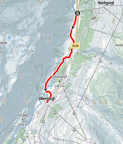 Karte / E-Bike Tour entlang des Gurgler Achwegs (692)