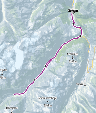 Map / E-Bike Tour zu den Rofenhöfen (655)