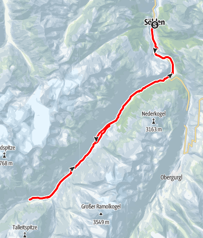 Map / E-Bike Tour zu den Rofenhöfen (655)
