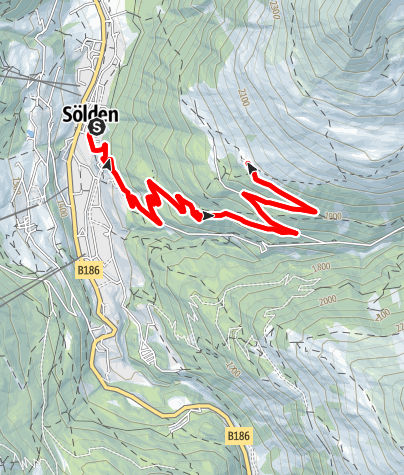Karte / E-Bike Hüttentour zur Kleblealm (651)