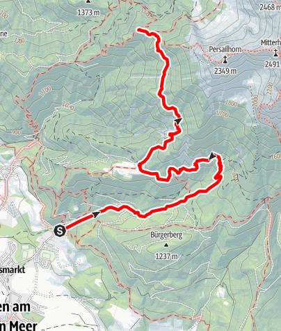 Map / Zustieg  zur Peter Wiechenthaler Hütte über Haidensperre