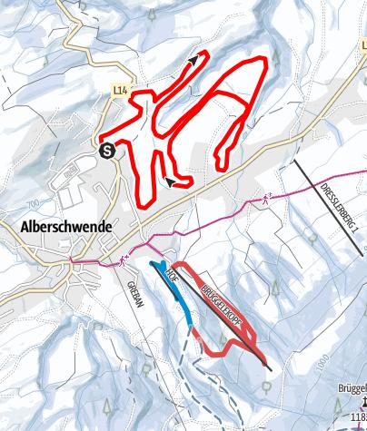 Karte / Alberschwende | Langlaufloipe lang