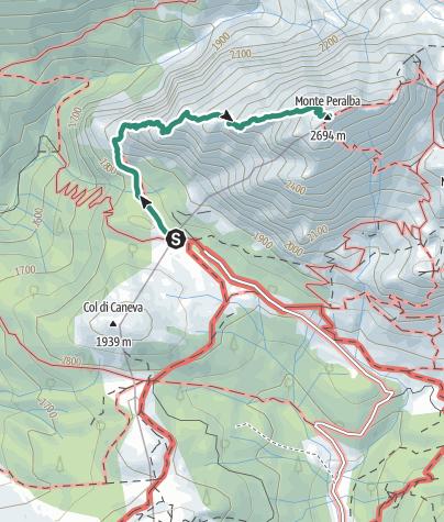 Map / 06 PERALBA per via normale ovest