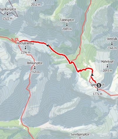 Map / Übergang Falkenhütte zum Karwendelhaus