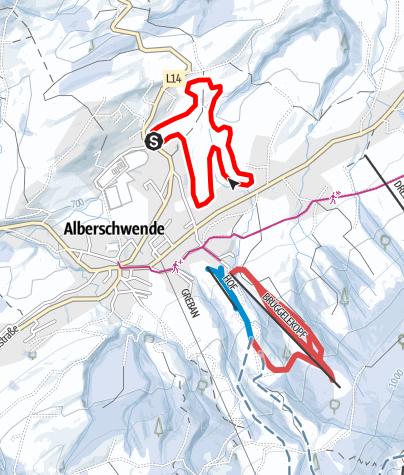 Karte / Alberschwende   Loipe mittel