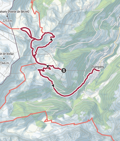 Map / Hike to the Lac Vert (Chésery)