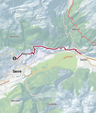Map / Chemin du vignoble: Venthône – Leuk (stage 4)