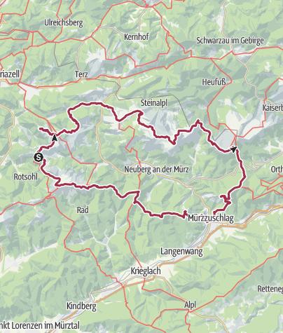 Karte / Naturpark Mürzer Oberland - in 3 Tagen rund um den Naturpark