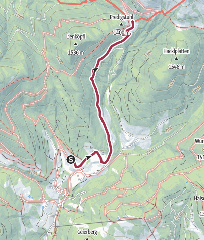 Map / Arzbergalm über Forststraße