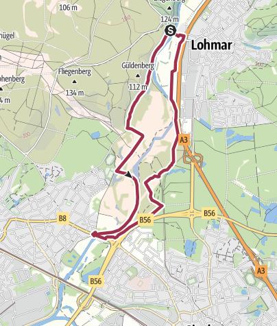 Karte / Wahner Heide | Aggeraue | 9 km