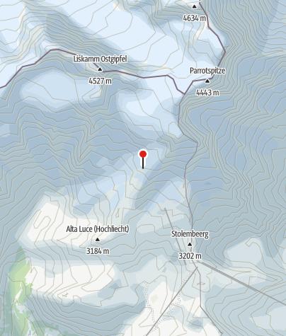 Map / Rifugio Gnifetti