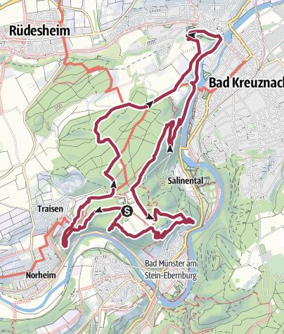 Karte / 3x3Salinental: VitalTour Rotenfels