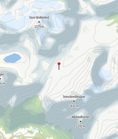 Map / Patchelhytta - schöne Selbstversorgerhütte in den Sunmore Alps