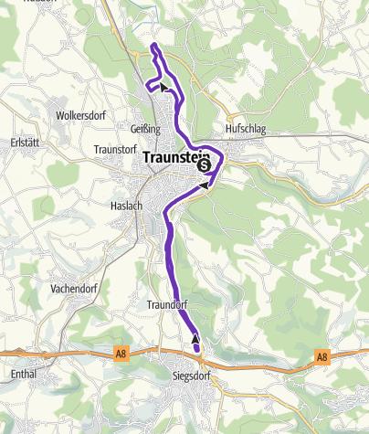 Karte / Traunsteiner Halbmarathon
