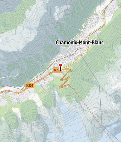 Map / Auberge de Jeunesse HI Chamonix Mont-Blanc