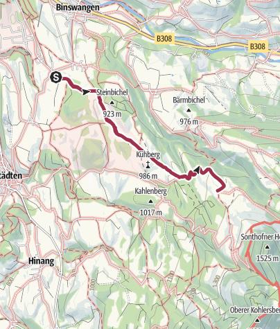 Karte / Von Hofen zum Sonthofener Hof und zurück