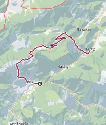 Map / Luchs-Trail Etappe09 (Palfau-Lassing) Variante Lang