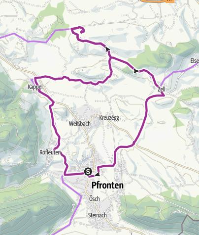 Karte / E-Bike- Voralpentour