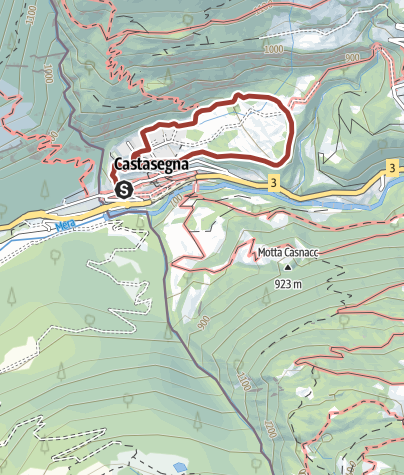Map / An educational trail - the chestnur forest