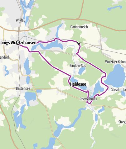 Karte / Seen und Wälder in der Blossiner Heide