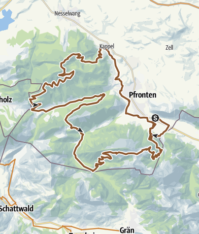 Karte / Pfrontener MTB-Marathon