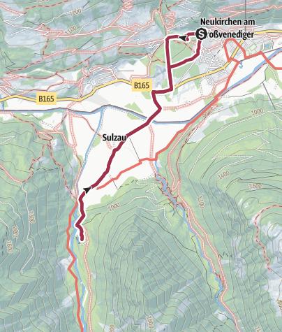 Map / Gemütliche Wanderung zum Blausee am Eingang des Obersulzbachtales